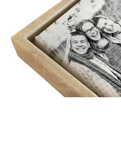 Baklijst voor canvas houtkleurig