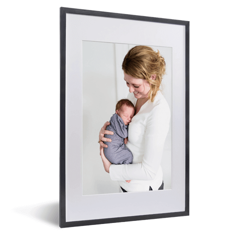 fotolijst moeder en baby zwarte lijst