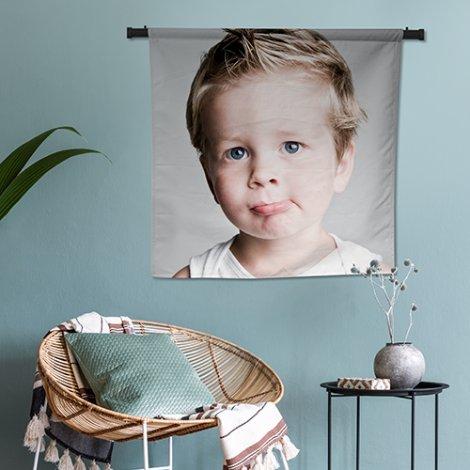 foto op wandkleed woonkamer