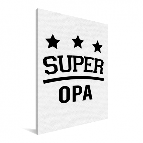 Vaderdag - Super opa Canvas