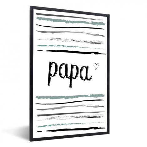 Vaderdag -tekst en strepen - Papa - voor de liefste mama Fotolijst