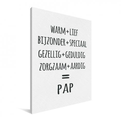 Vaderdag - Pap Canvas