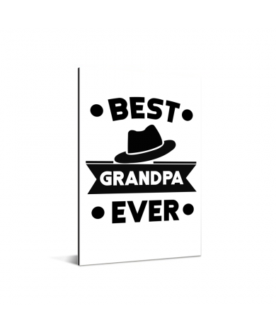 Vaderdag - Best grandpa ever Aluminium