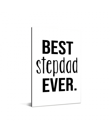 Vaderdag - Best stepdad ever Aluminium