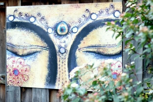 Tuinschilderij boeddha