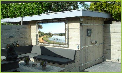 Tuinposter aluminium frame