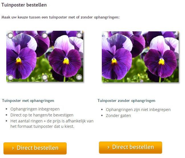 Tuinposter bestellen op FotoOpHout