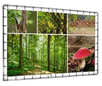 fotocollage natuur op tuinposter