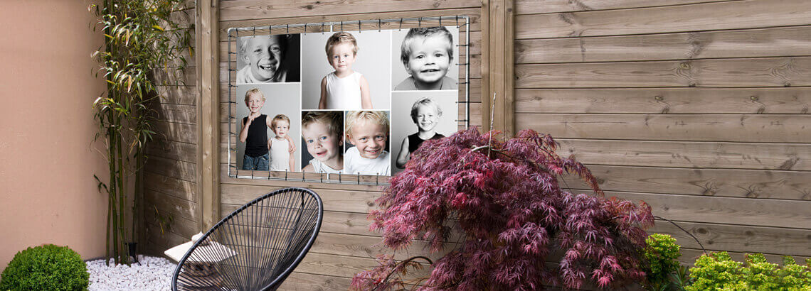 collage op tuinposter