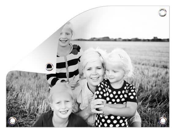 Tuinposter met familiefoto