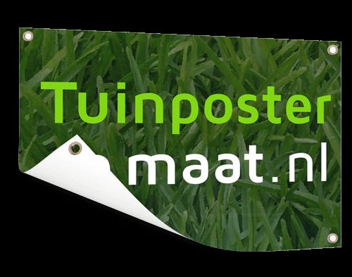 Logo op tuinposter afdrukken
